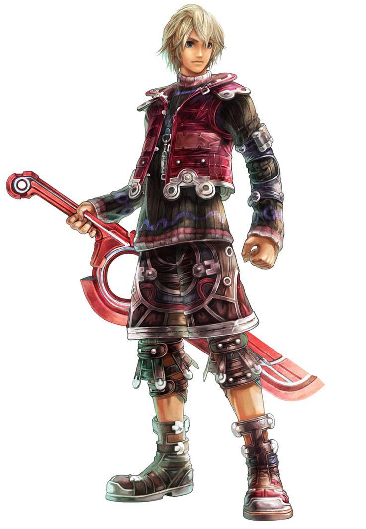 Xenoblade Chronicles main character...named Shulk? That's an interesting name. He looks very... standard RPG hero, lol.