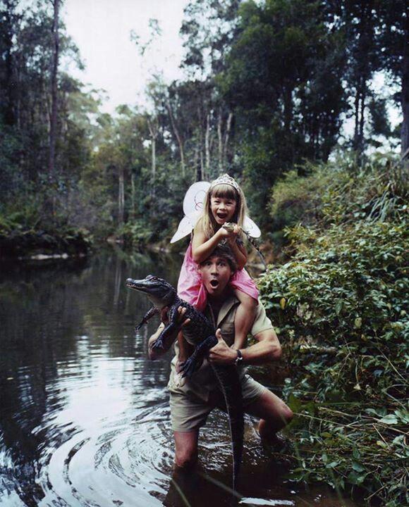 Steve Irwin and daughter Bindi.