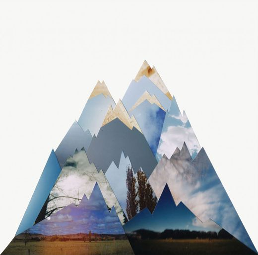 Landscape Photo Collage; the mountains, plains, beaches - create whatever you want using high quality magazine images and the like.