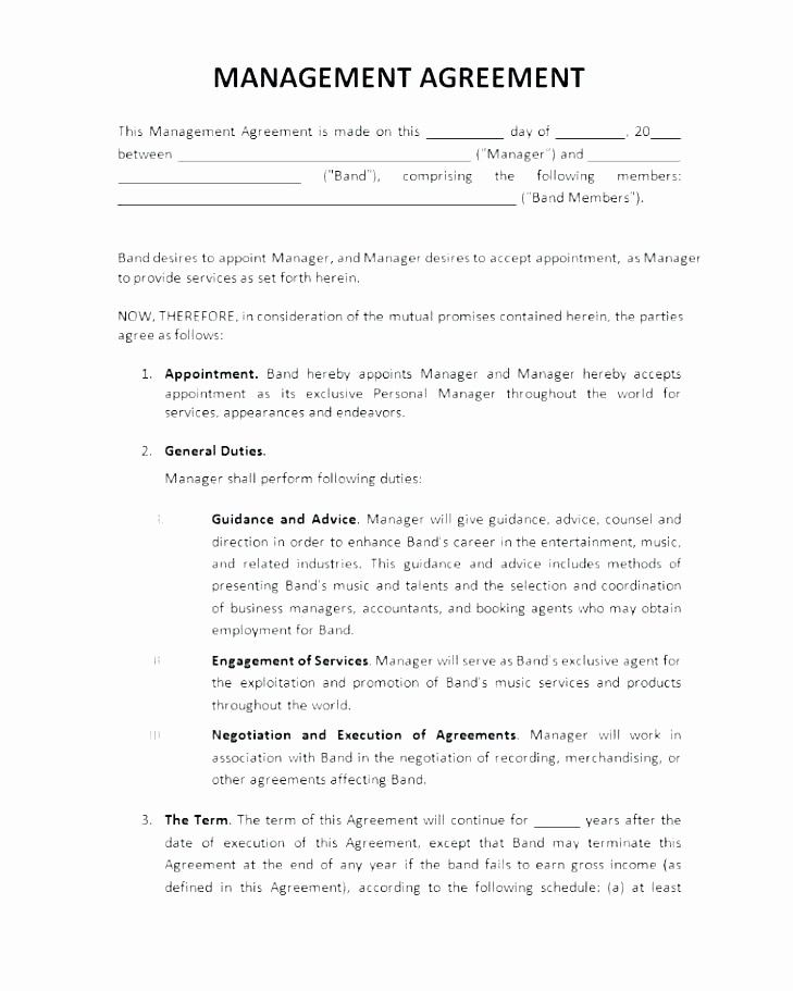 50 Artist Management Contract Template In 2020 Contract Template