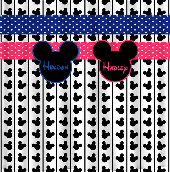 RESERVE Personalized Custom Shower Curtains in Mickey or Minnie Theme -  Coordinated Shower Curtain, Hand - 14 Best Mickey Bathroom Images On Pinterest