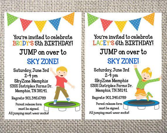 21 best Skyzone Birthday Party images on Pinterest Birthday