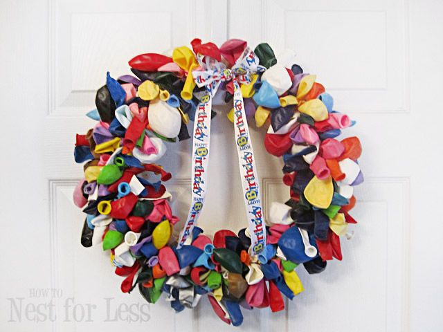 Last year Missy featured this adorable birthday wreath on How Does She and I thought I would give it a whirl. Here's the completed balloon wreath the easy instructions so you can create it on your own! First I gathered my supplies: Straw wreath still in the plastic 6-8 bags of multi-colored balloons from the …