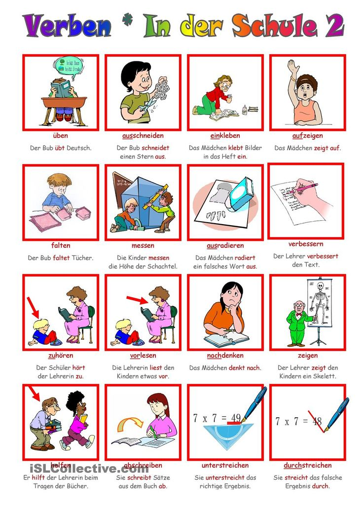 German grammar - School verbs 2