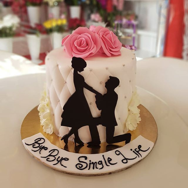 Bye Bye Single Life Engagementcake Beautiful Birthday Cakes Burgundy Wedding Cake Edible Printing