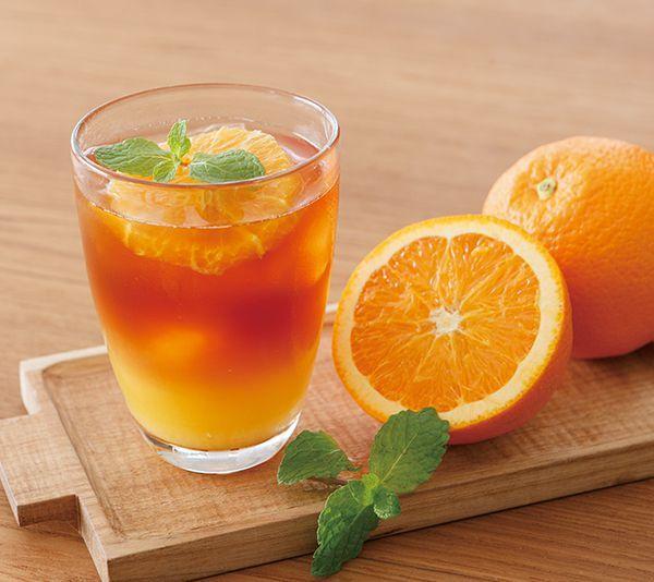 アールグレイのオレンジアイスティー