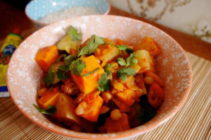 Groen in het seizoen: stoofschotel met zoete aardappel, kikkererwten en koolrabi   De Groene Meisjes
