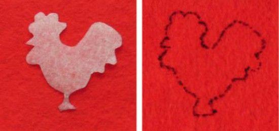 Пасхальное украшение с петушком