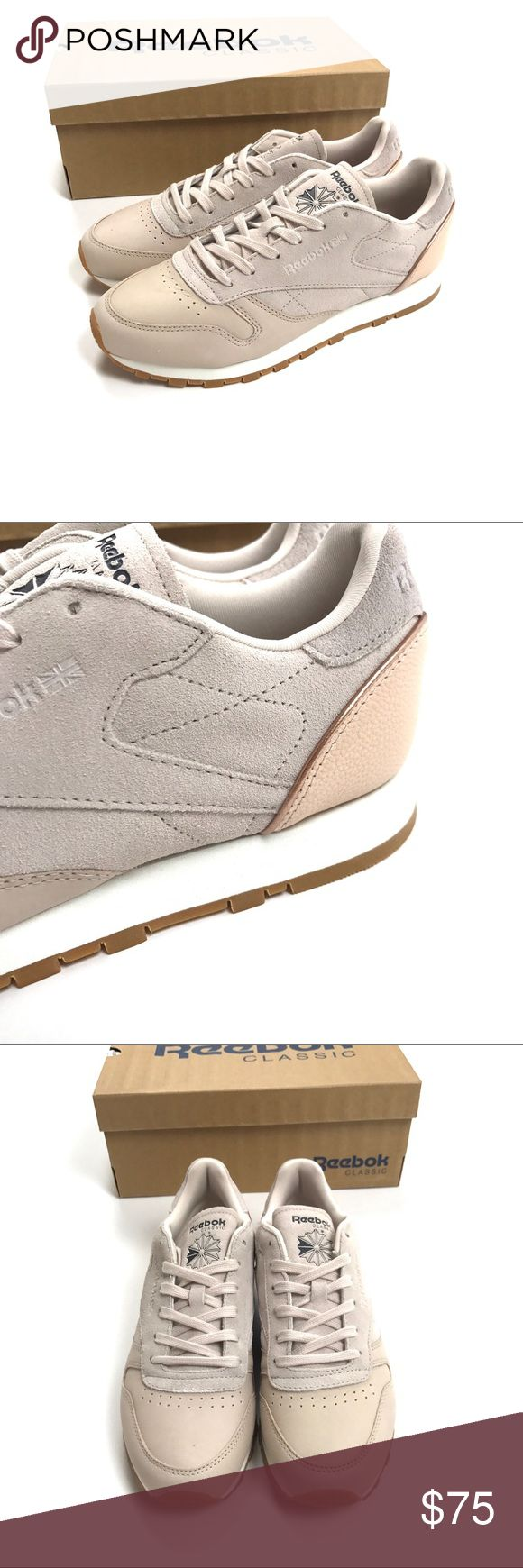 NEW Reebok Classics Nude Golden Neutrals Size 8.5 Reebok Classics Womens Size 8.5  Leather & Cloth Golden Neutrals With Gum Sole  Retail price: $90.00  Condition: New with box. Reebok Shoes Sneakers