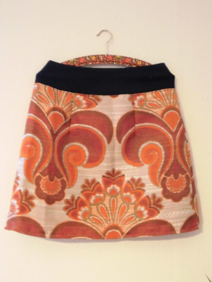 Vitamin C! skirt made of a vintage-curtain, www.dawanda.com/shop/hansdampf