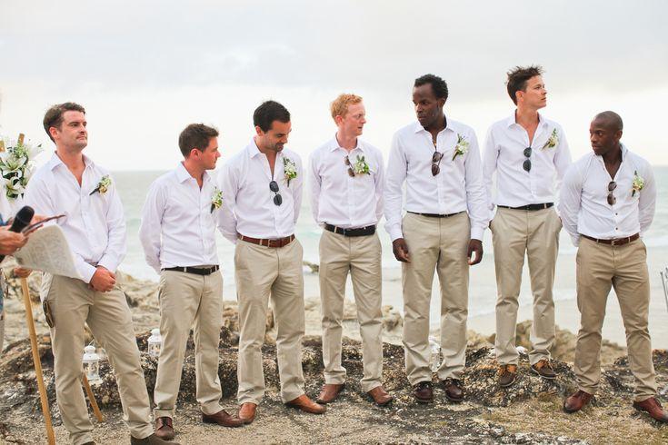 Mens White Linen Shirts For Beach Wedding