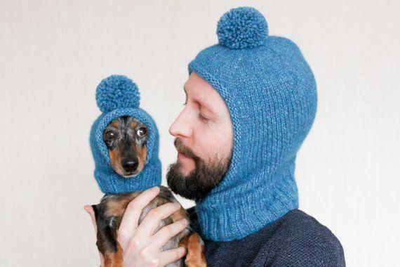 Knitting Pattern Bundle Balaclava Hat Matching Hats Twin Etsy Dog Hat Dog Sweaters Cute Dogs