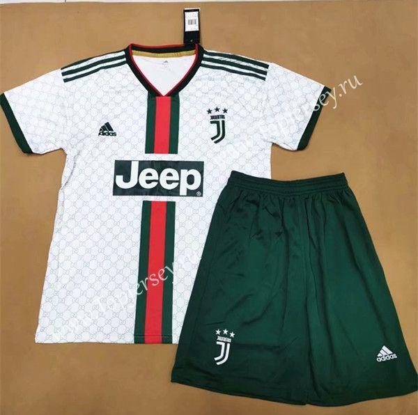 2019-20 Juventus (Gucci) White Kids/Youth Soccer Uniform   Soccer ...