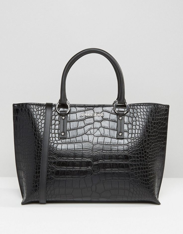 Armani+Jeans+Croc+Style+Tote+Bag