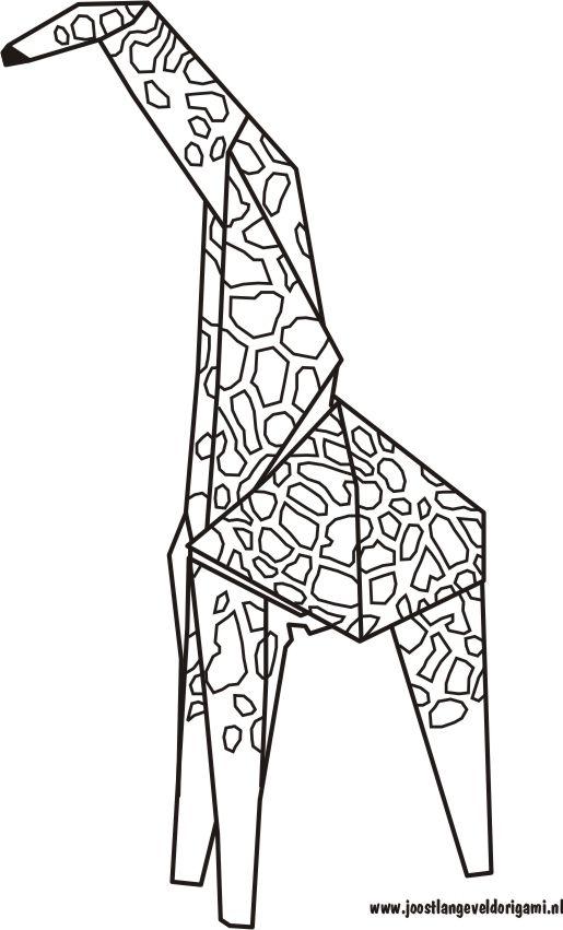 origami giraffe diagrams | :: giraffes are dope :: | origami, giraffe, pink  giraffe