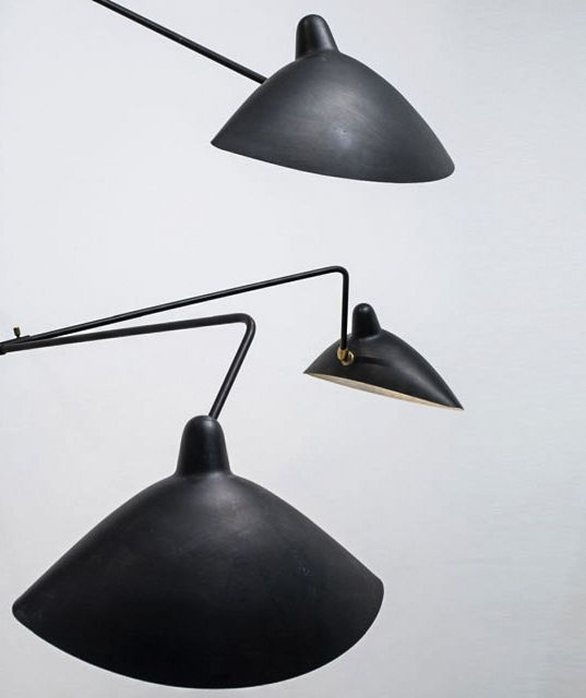 Serge Mouille (1922-1988), three-arm floor lamp, ca. 1952.Manufactured by Ateliers Serge Mouille, France  / Jousse Enterprise