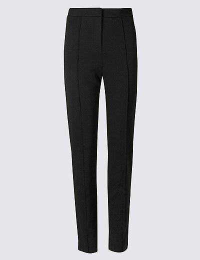 Slim Leg Flat Front Trousers | Marks & Spencer London