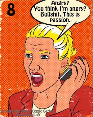 Retro comic enneagram type angry