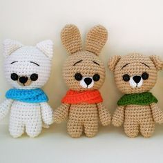 Using these free crochet animal patterns you can create any animal you want by changing muzzle and ears. The crochet animal patterns suit to beginners.