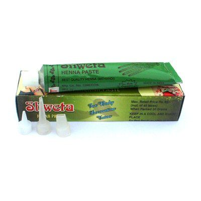 Natural Premixed Henna Tubes