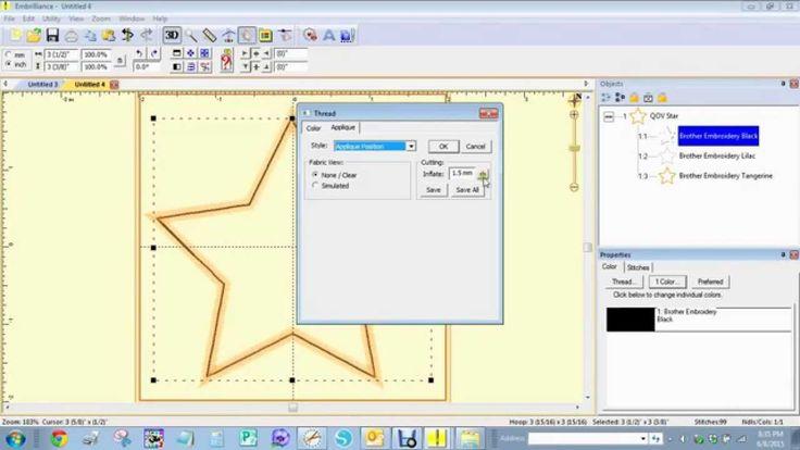 Create fcm cut file embroidery applique using