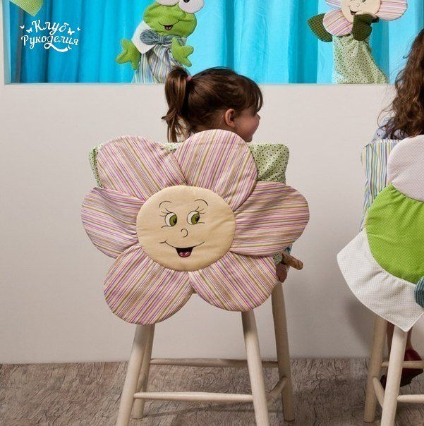 We decorate the backs of chairs for babies