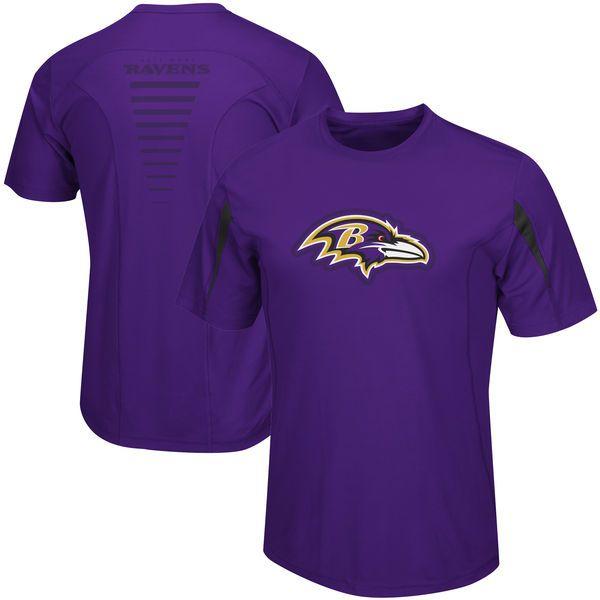 Baltimore Ravens Majestic Fanfare VII Synthetic Cool Base T-Shirt – Purple - $29.99