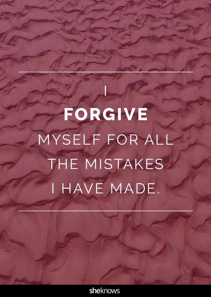Forgive yourself #Quotes #Affirmations