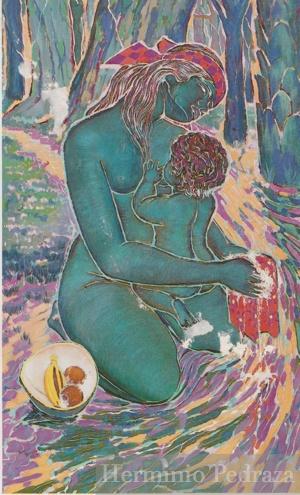 """""""Urupê"""" 1990 80x120cms Oil on canvas"""