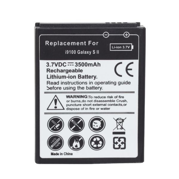 3500mAh Thick Battery + Back Cover For Samsung I9100 Galaxy S2