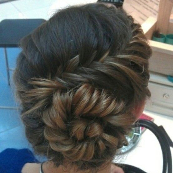 So I realize this a girl's hair do, but I can't stop looking at it. It's so beautiful. I just think it's like art. haha