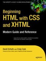 Wrox Beginning Tutorial Ebooks - HTML with CSS & XHTML - Download - 4shared - paulo ricardo alencar
