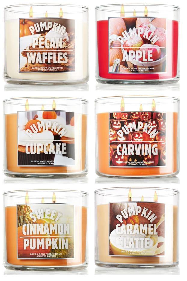 Bath Body Works Pumpkin Candles For Fall 2017