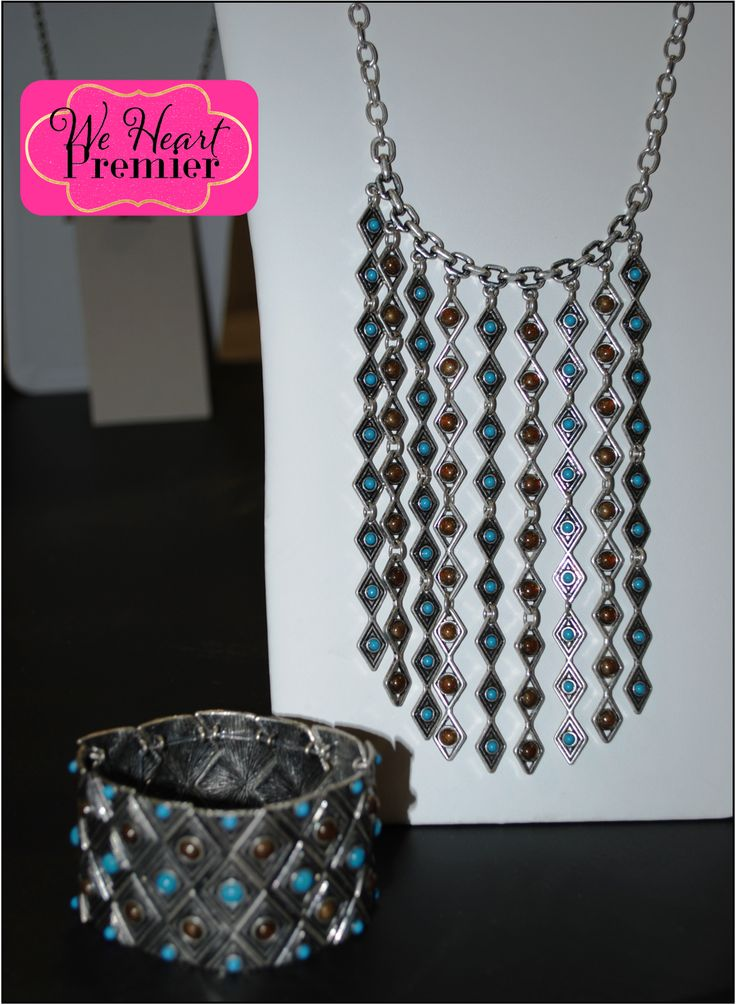 WESTERN FLAIR: Arizona Necklace and Bracelet - one of the trending looks this fall, western flair! Necklace can be work long or short. www.stephanieingle.mypremierdesigns.com Code 1979