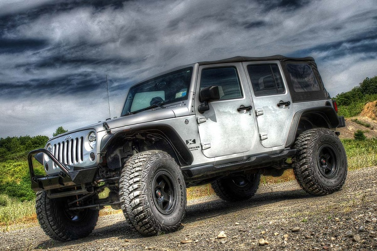 "Lifted Jeeps For Sale >> Jeep JK w/ 2.5"" X Factor lift, 37"" tires, and Bushwacker Flat Style Flares 