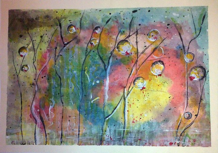 The Awakening, acrylic on paper by Tatjana Danilovic