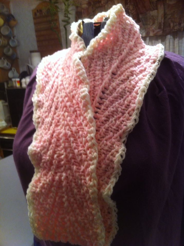 Herringbone knit in pink