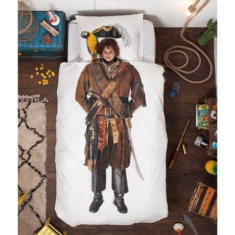 Kult sengesett med piratmotiv!