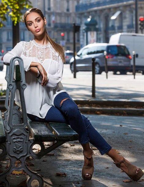 Nabilla Benattia, french real TV bimbo celebrity