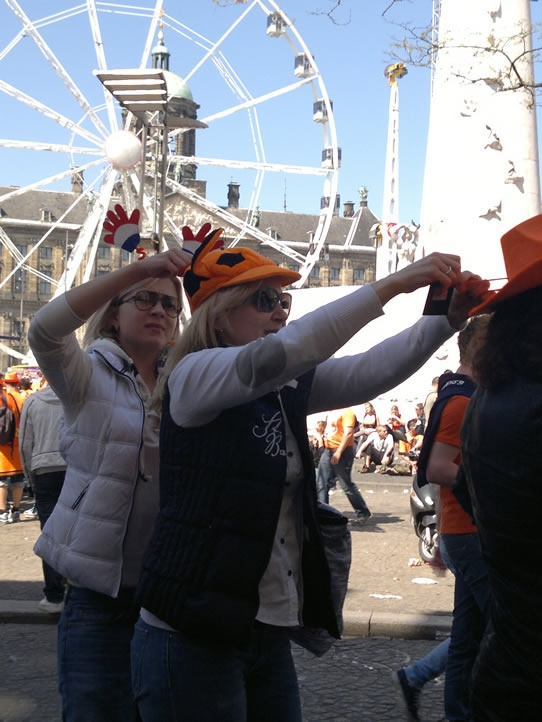 Fashion sense is important. Even on Queen's Day.