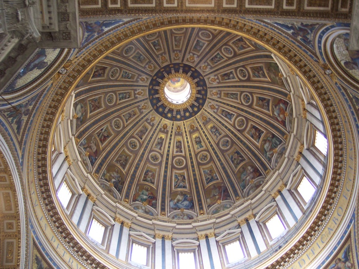 The dome in St. Peter's at the Vatican