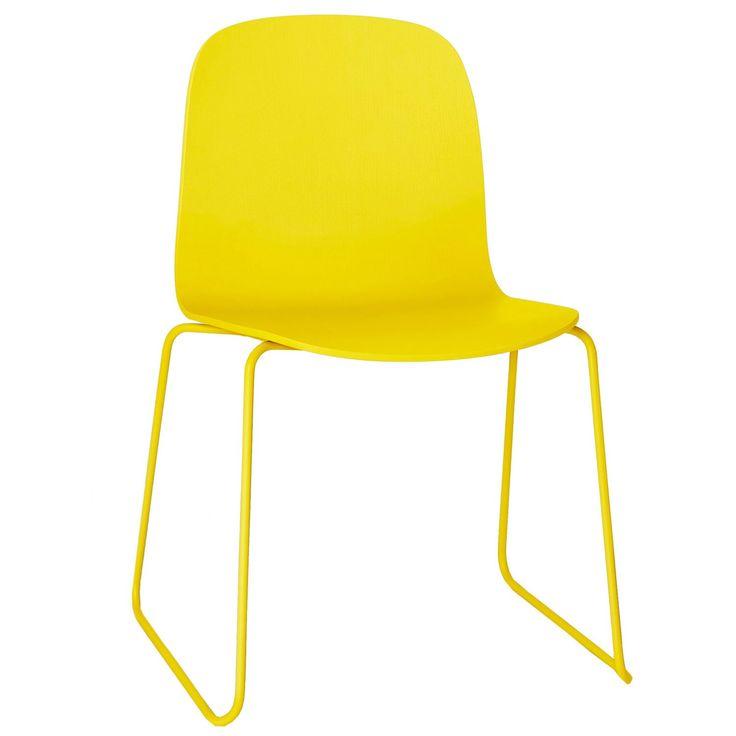 Visu Stol stålben, gul/gul Muuto - Køb møbler online på ROOM21.dk