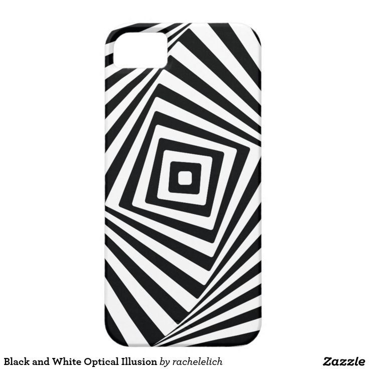 Black and white optical illusion poster with inspiration on the psychedelic seventies. Very modern and trendy!