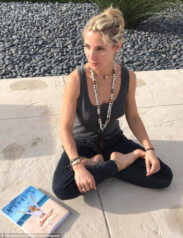 Namaste! Yoga-lover Elsa Pataky struck her best Lotus pose as she posed for a photo on Instagram on Sunday
