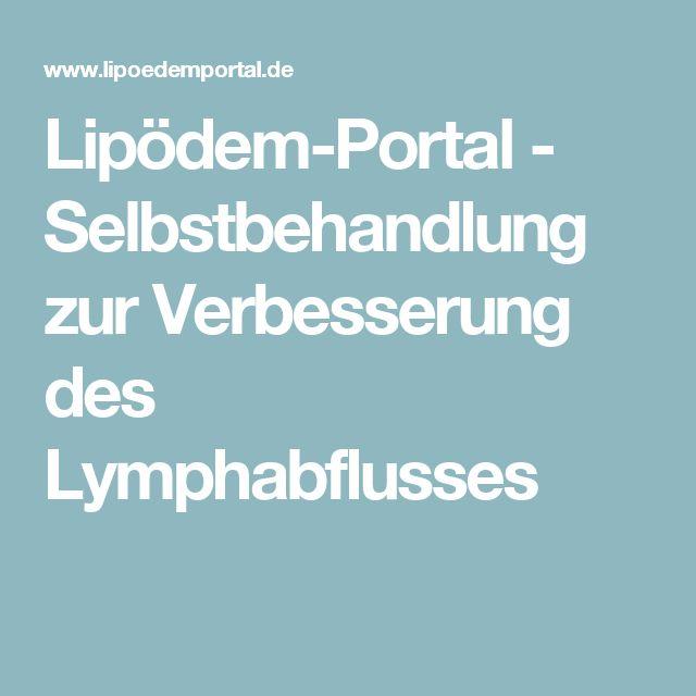 Lipödem-Portal - Selbstbehandlung zur Verbesserung des Lymphabflusses