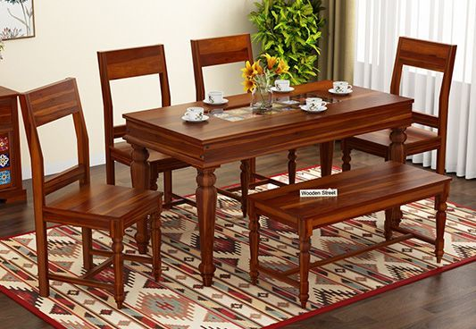 Pune In 2019 Dining Set With Bench 6 Seater Dining Table
