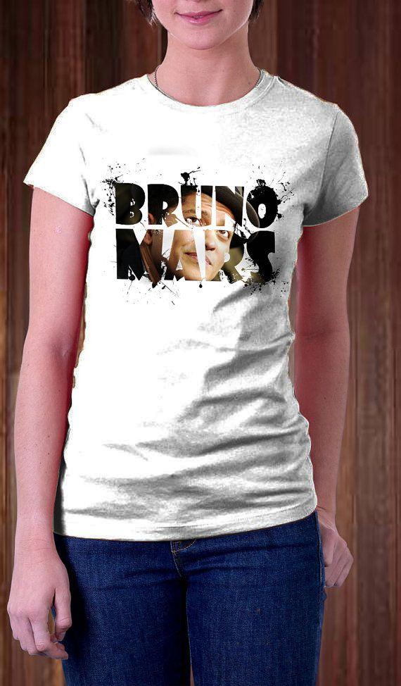 Bruno Mars Women T Shirt  Bruno Mars Text T Shirt   by Ngetrick, $16.97