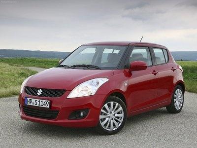 A white, red or navy blue Suzuki Swift