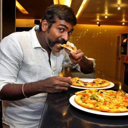 Vijay Sethupathi Eating Pizza