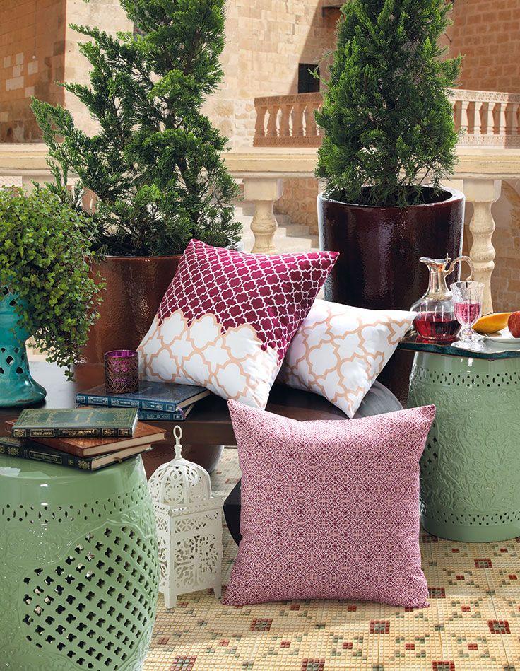 As almofadas Dubai Lynel combinam com diferentes ambientes, do quarto ao espaço de leitura. #dubai #lynel #almofadas #decoração #estampas